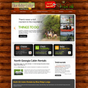 North Georgia Cabin Rental website design